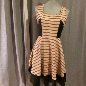 Faux leather and fabric original Soprano dress